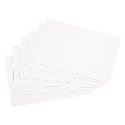 5 Star Record Card Smooth Blank White Pack